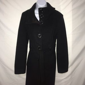 Via Spiga Womens 8 Black Wool Pea Coat❤️